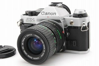 【EXC+++++】Canon AE-1 Program W/NewFD 35-70mm f3.5-4.5 Lens from JAPAN #132-LG089