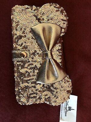 NEW Disney Parks Rose Gold Minnie Ears iPhone Plus 6+ 6s+ 7+ 8+ Wallet Case NWT
