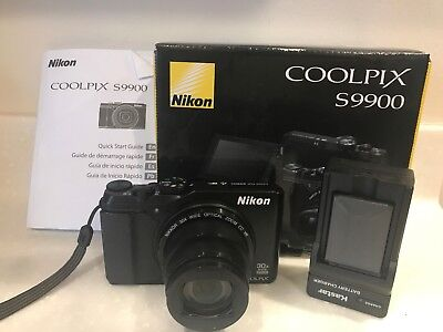 Nikon Coolpix S9900 Digital Camera - Black 16.0 MP