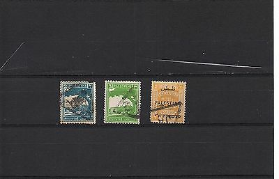 Palestine - Hcv 3 Used Overprinted Stamps Lot (Pal -36)
