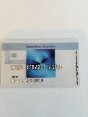 American Express Collectible BLUE Credit Card Plastic