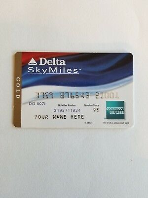 American Express Gold DELTA Collectible Credit Card Cardboard