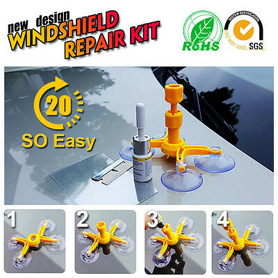 Windscreen Windshield Repair Tool DIY Car Kit Wind Glass Chip Crack Einstellen