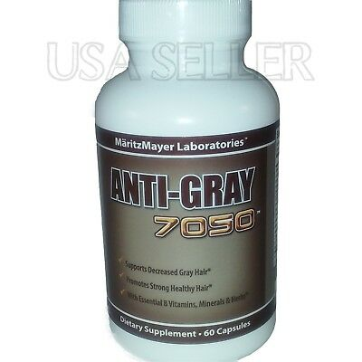 Anti Gray Hair 7050 Max Strength End Grey Hair Restore Color Supplement