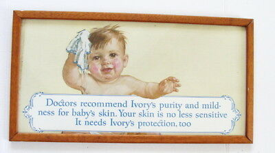 1920's Orig Ivory Soap Doctors Reco Purity & Mildness Framed CB Trolley Car Card