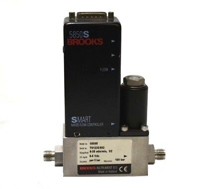 Brooks Instrument 5850S Smart Mass Flow Controller O2 Gas, 0-30 min 100 bar [#P]