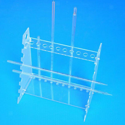 Clear Plastic Pipet Stands Rack for 17 Pipettes, Horizontal Placement