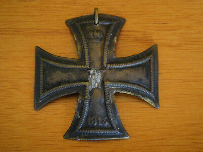 Extremely RARE WWI Issue Imperial German Brass Iron Cross First Class