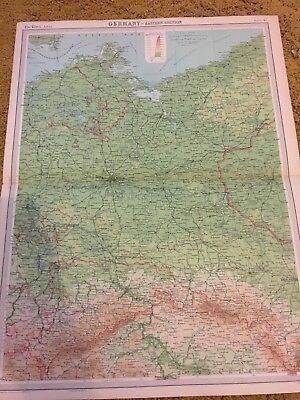 old world atlas Plate Germany Eastern Section