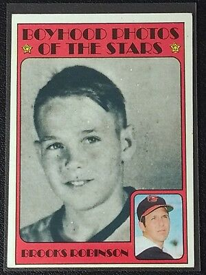 1972 Topps Brooks Robinson Boyhood Photos Of The Stars #498 Baltimore Orioles