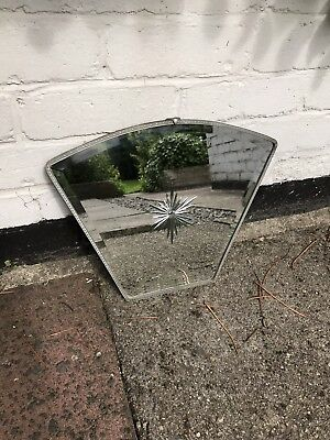 Silver Framed Antique Mirror Art Deco Mirror Crested Mirror 1920s Mirror Ornate