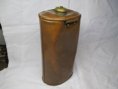 Boer War WW1  British Solid Copper Canteen Water Bottle Liquid Fuel Container Of