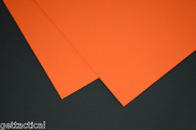 """2 Sheets 8""""x12"""" Kydex T-.080 Safety Orange-DIY Sheath Or Holster Material"""