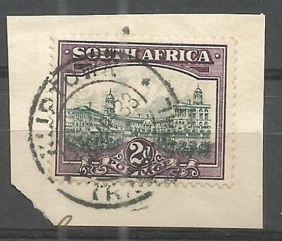 Union of South Africa Postmark Kliptown Transvaal 1933 on small piece
