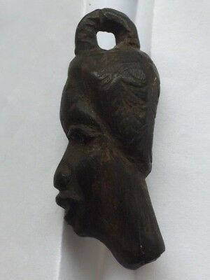 Old African Hand-Carved Pendant