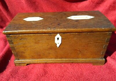 Antique Welsh Oak Coffer Bach Money / Collection Box
