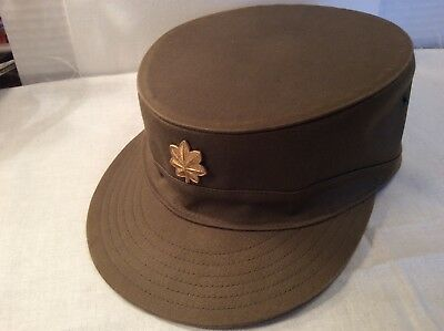 Vintage 50's-60's OD Green ACE Army Ridgeway Colonel's Hat