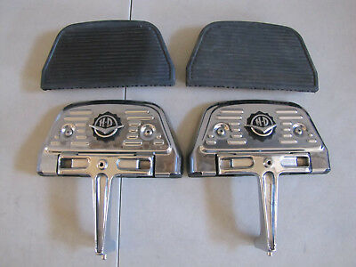 Harley Davidson Original  Chrome Passenger Footboard Mounts W/h-D Chrome Covers