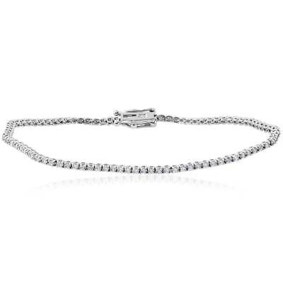 1 1/2 cttw Diamond Tennis Bracelet 14k White Gold 7""