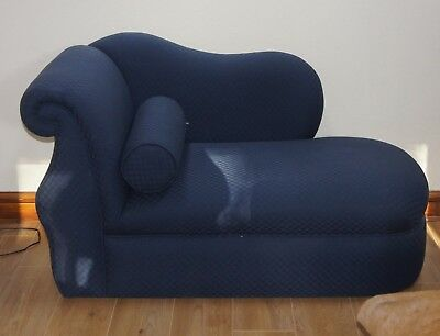 Recently Reupholstered MODERN BLUE Self Check Small Chaises Longues/Sofa