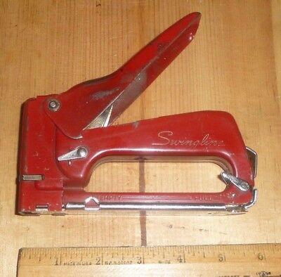 Vintage Swingline #101 Tacker - Stapler  - Staplegun - Staple Gun: Red