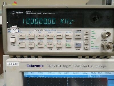 Agilent 33120A 15 Mhz Function/ Arbitrary Waveform Generator NG17