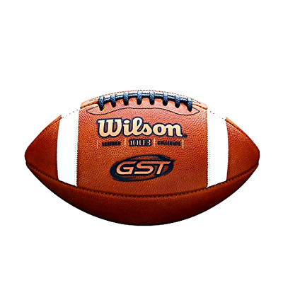Wilson GST NCAA Game Football Official Size Best Selling Football, New