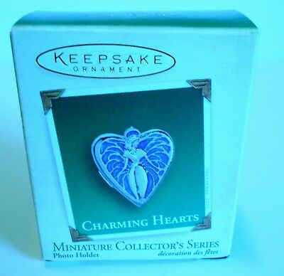 "2005 Hallmark Miniature Ornament ""Charming Hearts"" Photo Holder  MIB"