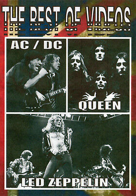 Ac / Dc Led Zeppelin Queen The Best Of Videos 39 Video Hits Classic Rock