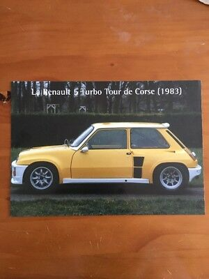 Brochure Renault 5 Turbo Tour De Course