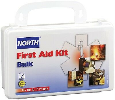 North by Honeywell 019700-0001L 10 person First Aid Kit, Bulk, Plastic