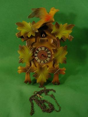 Colorful Vintage German Cuckoo Coo Coo Clock For Repair