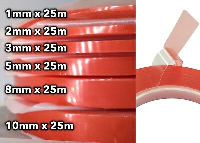 25M Red Film Double Side Adhesive Tape Strong Stick Bond Craft Cellphone Repair