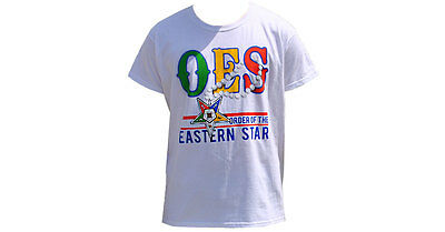 Order of the Eastern Star OES- Pearl- T-Shirt- White- Size Small-New!