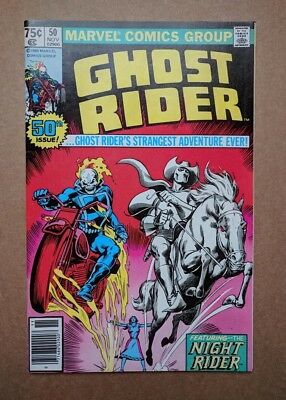 Marvel - Ghost Rider #50 Night Rider and Ghost Rider Nov 1980 FN