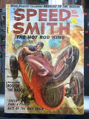 Speed Smith The Hot Rod King #1 First Issue Golden Age Comic GD Center Deteatch