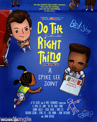 Do The Right Thing Spike Lee Movie Poster Signed  Artist Child's Room Wall Art