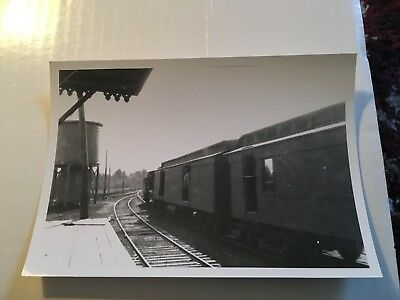 Vintage Film Negative Boston & Maine Railroad train & tank Center Barnstead NH