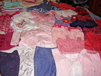 Fab Job Lot Of 40 Baby Girls Clothes Age 6-9 Months
