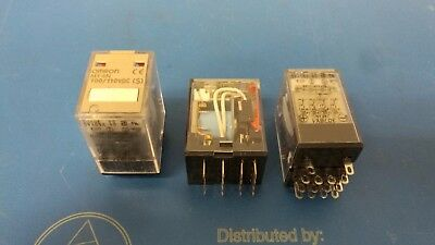 Lot of 3 pcs OMRON MY4N 100/110VDC (S) Relay, 14Pin NEW