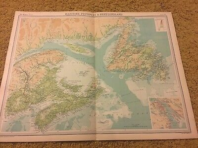 old world atlas Plate Map Maritime Provinces & Newfoundland