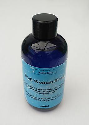 PMT Well Woman Massage Bath Oil Aromatherapy Blend 100ml Geranium Clary Sage