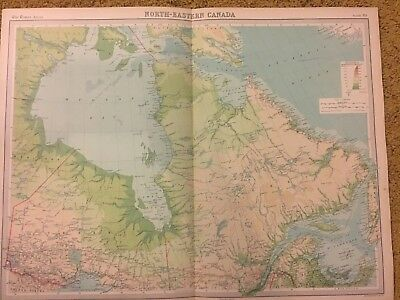 old world atlas Plate Map North Eastern Canada