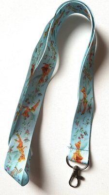 Brand New Light Blue Tinkerbell Fairy Lanyard Phone Chain Office Card Free P&p
