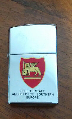 ZIPPO Accendino CHIEF OF STAFF ALLIED FORCE SOUTHERN EUROPE