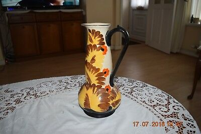 Tall Hancocks Ivory Ware Hand painted Vase/Jug