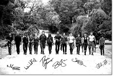 The Walking Dead Cast Photo Print Poster Pre Signed - 12 X 8 Inch (A4) -  N.o 3