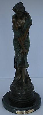 "Big antique early 1900's ""Sorpresa"" Bronze sculpture by Professor Giuseppe Bessi"