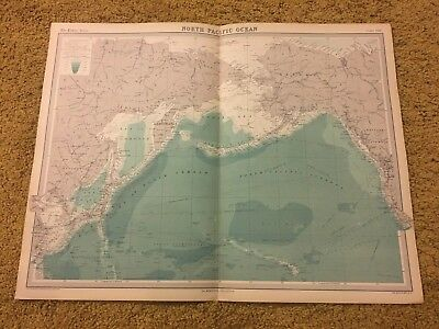 old world atlas Plate Map North Pacific Ocean
