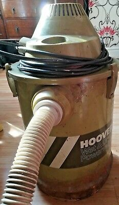 Vintage HOOVER  Industrial Wet and Dry Power Vac Model S4266, 240v